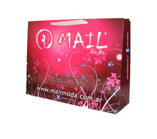 bolsas de papel cartulina carton impresas con su marca/logo