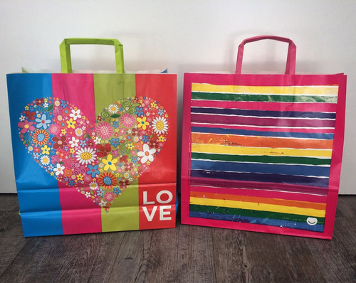 bolsas de papel de regalo con diseños 31x11x33 cm
