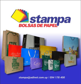 64ee8f1d8 Bolsas De Papel Serigrafia Imprenta en Mercado Libre Uruguay