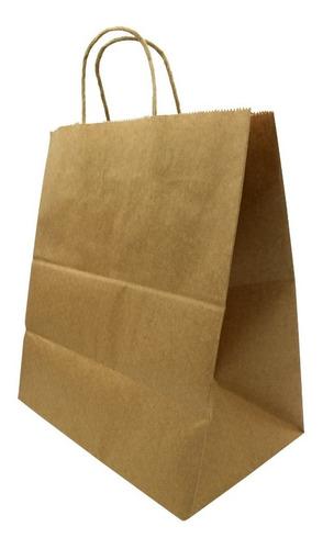 bolsas de papel kraft 25 unidades 33+17x40