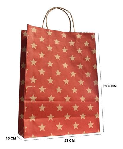 bolsas de papel kraft para regalos 50 uds  23+10x32,5