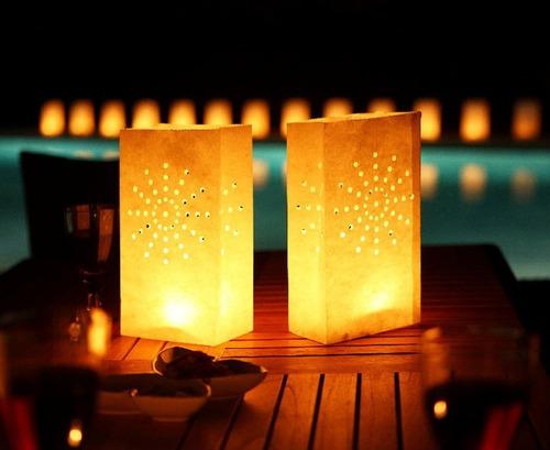 bolsas de papel luminosos, candle bags