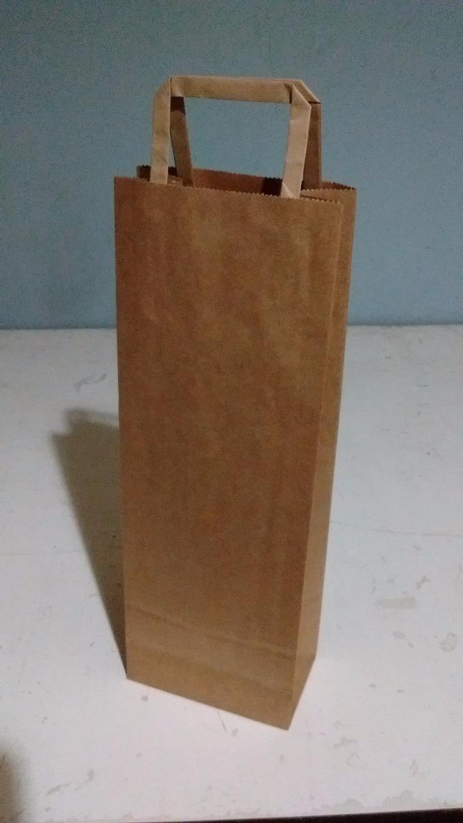 821f4b873 bolsas de papel madera con manija 1 botella x 10 unidades. Cargando zoom.