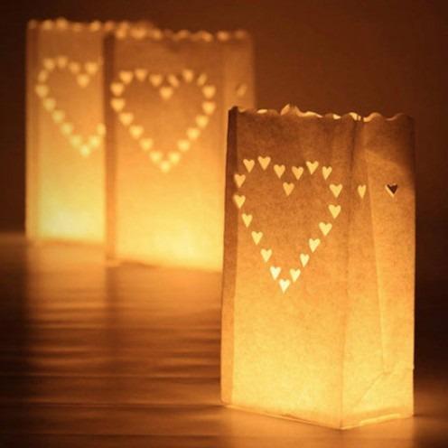 Bolsas de papel para bodas y mas candle bags s 14 50 en mercado libre - Farolillos para velas ...