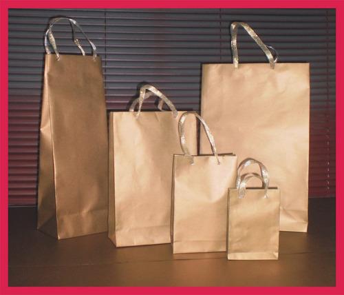 bolsas de papel para regalo--doradas y plateadas--lindas--