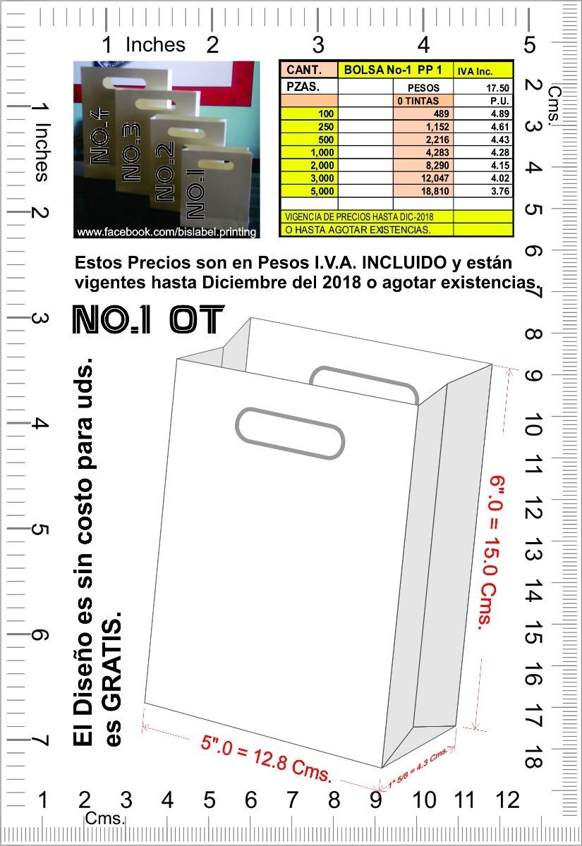 974882b707ab Bolsas De Papel Para Regalo, No.-1 - $ 4.28 en Mercado Libre