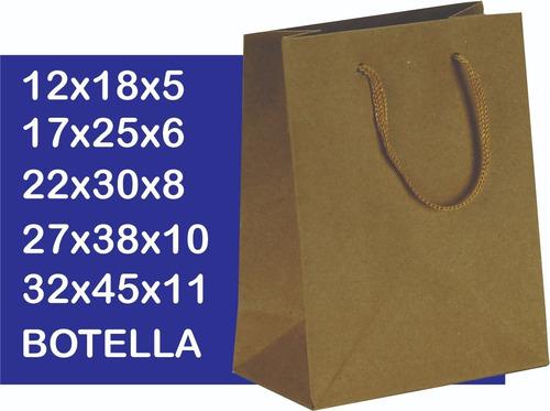 bolsas de papel vino botellas x100u - bajaron los precios!!!