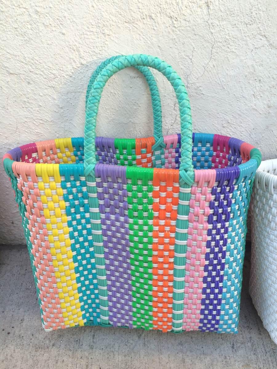 Bolsas de pl stico tejidas a mano en mercado libre - Cosas hechas a mano para vender ...