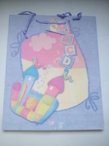 bolsas de regalo paquete: 8 unidades bebe (mediana)