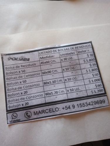 bolsas de residuos y de consorcio ecxelente precio