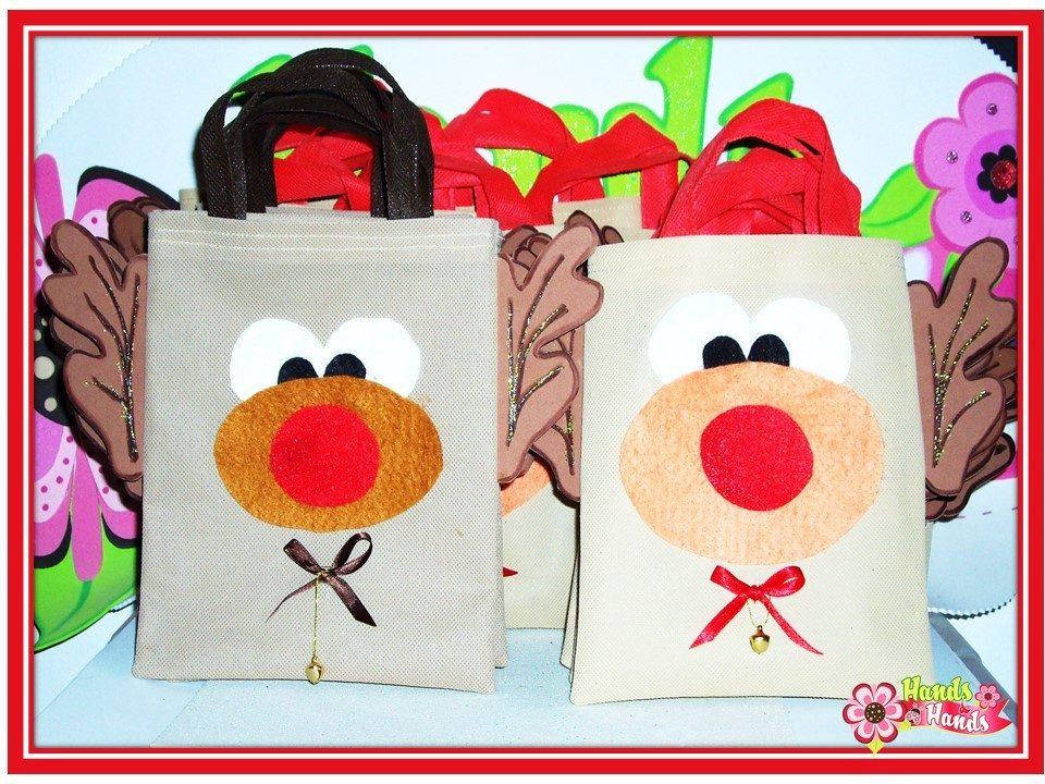 bolsas de tela para navidad regalos cotillones