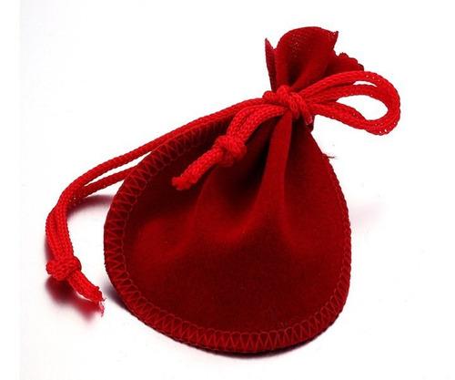 bolsas de terciopelo para collar anillo aretes x 40 unds