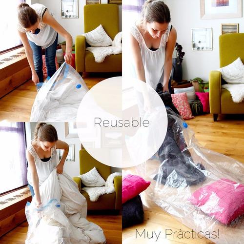 bolsas de vacio para ropa de 60 x 80 cm x 5 unidades