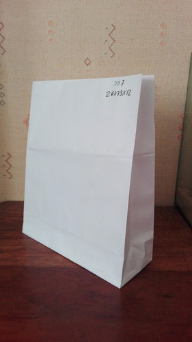 bolsas delivery de papel blanco (20x30x10) n 5 x100 unidades