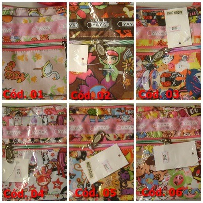 bolsas desenhadas yaya - coloridas