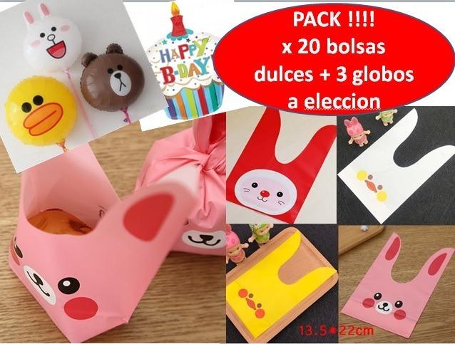 2e1fd159d Bolsas Dulces Animales Cumpleaños 20 Uni + 3 Globos 3990 - $ 3.990 ...