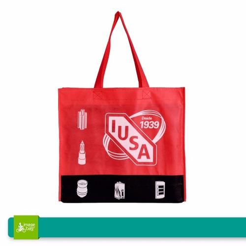 bolsas ecológicas con bies y fuelle 50x40 (100 piezas)