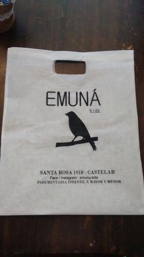 bolsas ecológicas impresas friselina/papel kraft