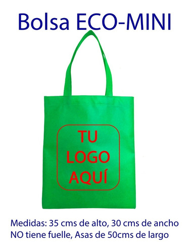 bolsas ecologicas personalizadas, 100 pzs + gratis