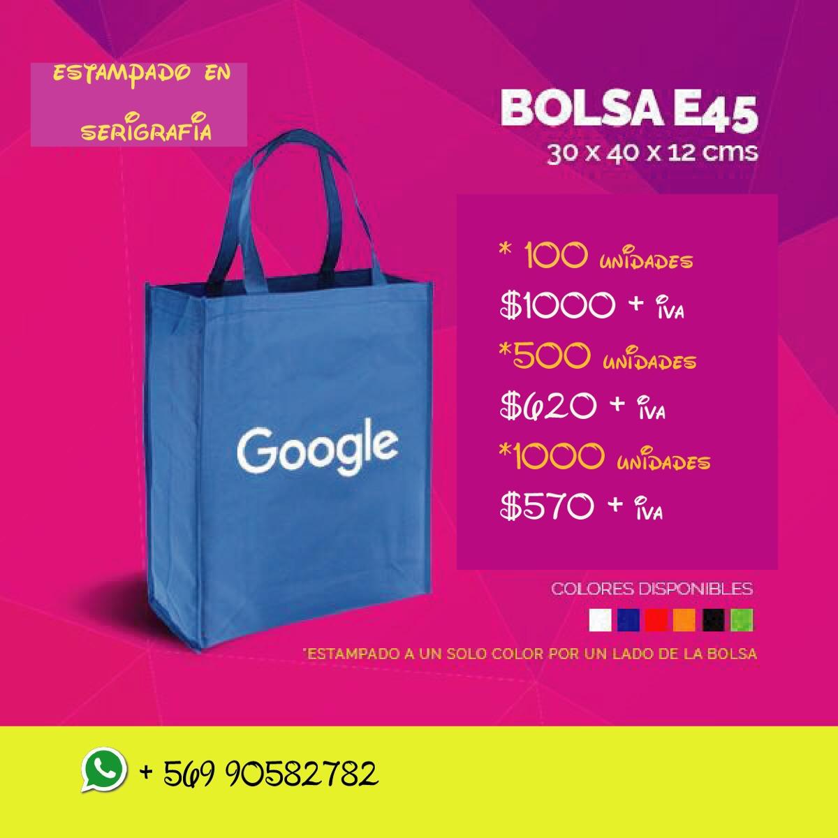3e24d6b33 Bolsas Ecologicas Personalizadas - $ 820 en Mercado Libre