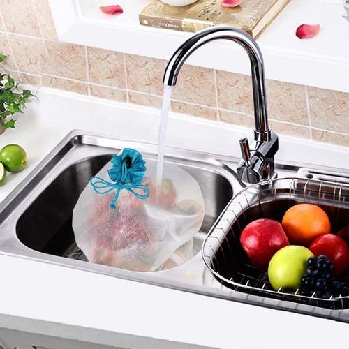 bolsas ecológicas verduras reutilizables malla reciclable lavables