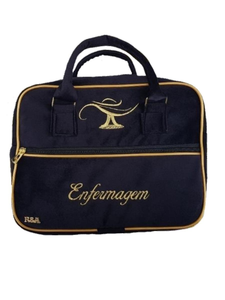 93c7abda1 Bolsas Enfermagem Luxo Preta 10 Bolsas - R$ 450,00 em Mercado Livre