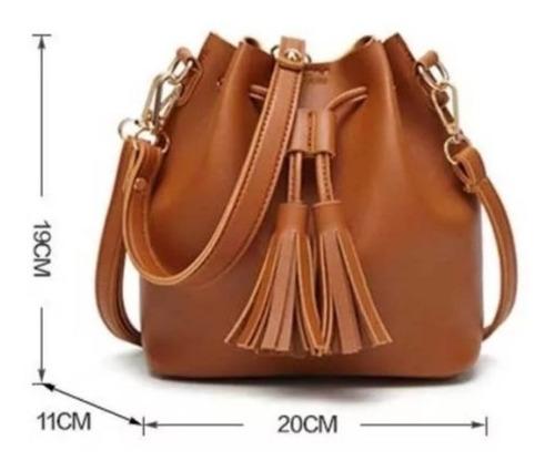 bolsas feminina saco lorena couro ecologico  alça auxiliar
