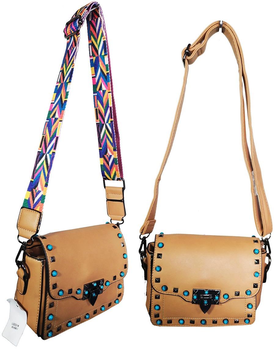 8365a5838 Bolsas Femininas Alca Colorida Spike Moda Transversal - R$ 118,49 em ...