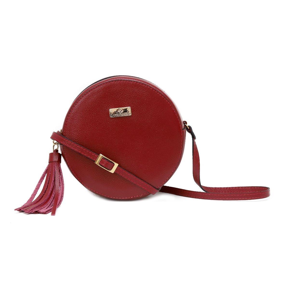 391661ae6 bolsas femininas baratas de couro legítimo modelo redonda. Carregando zoom.
