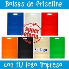 33876e763 Bolsas Friselina Eco 15x21 Estampadas Logo Pulicidad Nombre - $ 960 ...