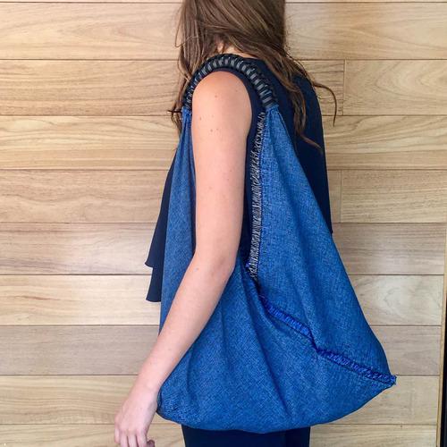 bolsas hechas a mano con asa de cuero tejido