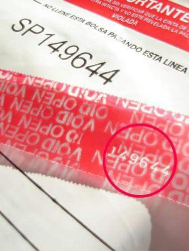 bolsas inviolables x 100 u. especial para ecommerce 44x55cm