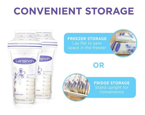 bolsas lansinoh almacenamiento leche materna x 100u bpa free