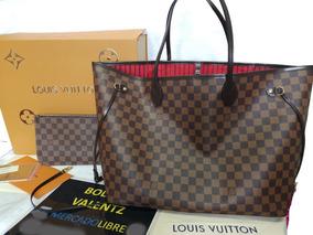 e7930faea4 Bolsas Louis Vuitton Neverfull Gm Ebene Caja Original Lv Gg