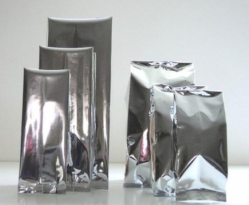 bolsas metalizada con fuelle 9x22cm paquete con 100 piezas