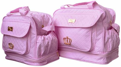 bolsas p/a bebê kit maternidade menina rosa enxoval bb1009