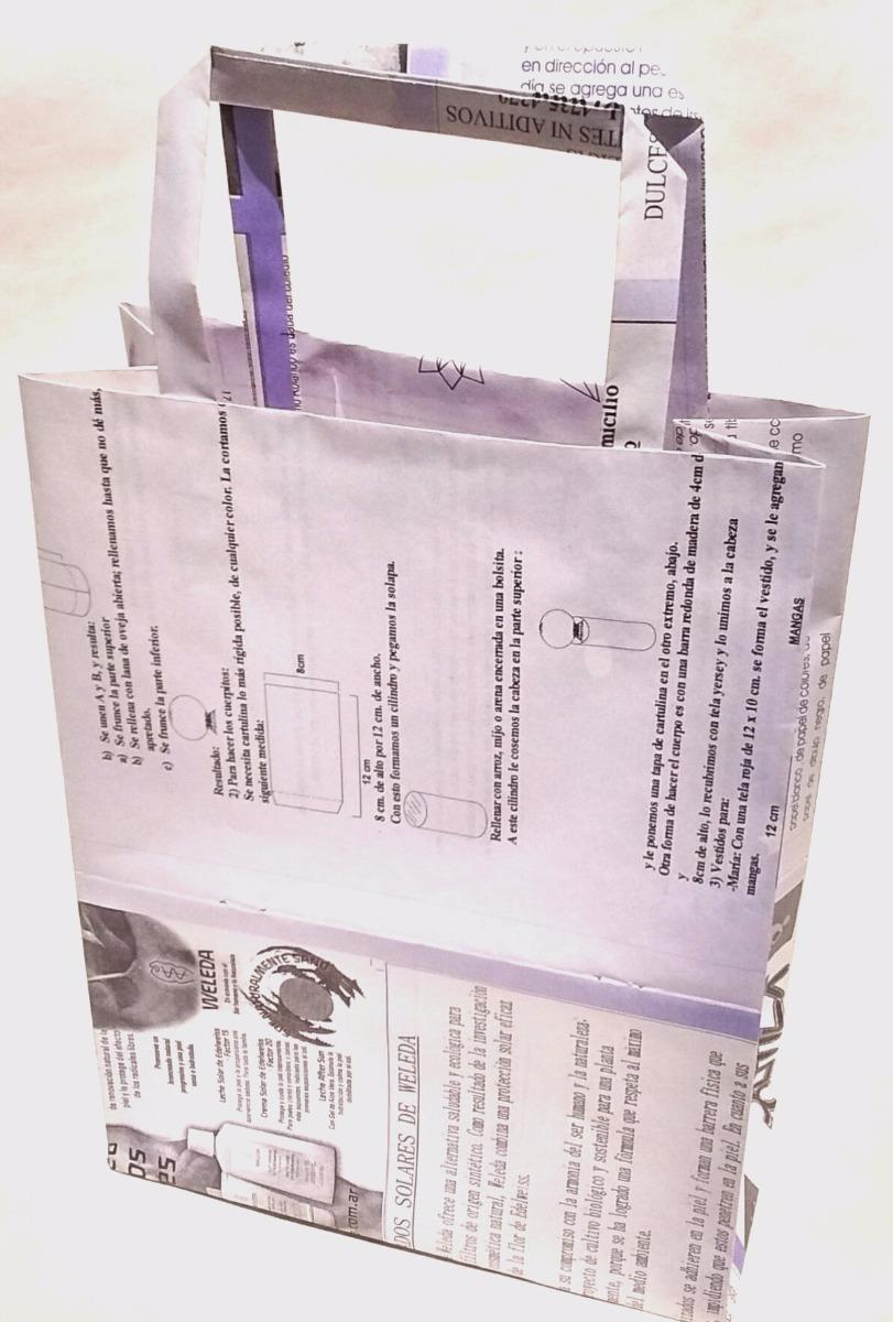 39a57ec5a Bolsas Papel Revista Reciclado - $ 7,00 en Mercado Libre