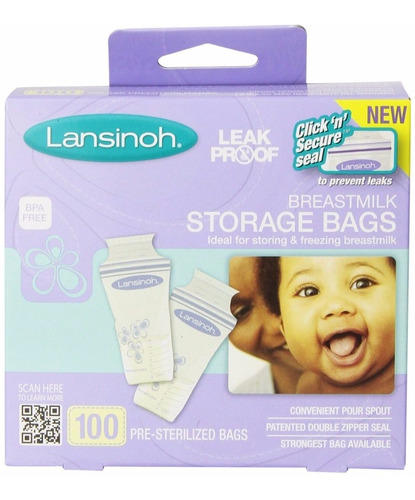 bolsas para almacenar leche materna 6onz lansinoh x 100 und