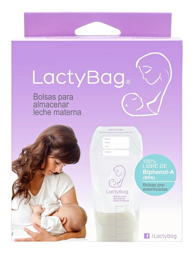 bolsas para almacenar leche materna lactybag x 25