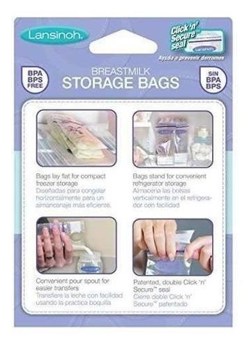 bolsas para  almacenar leche materna lansinoh x 50 unidades