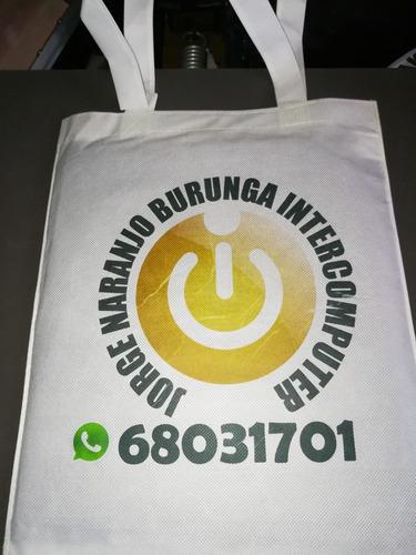 bolsas para compras, reciclables y personalizables,