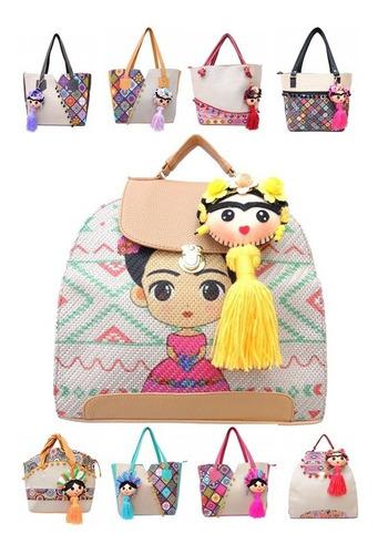bolsas para dama mayoreo bolso artesanal con llavero frida