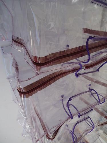bolsas para edredones cobertores colchas hule cristal  super reforzadas 5 piezas