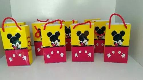 bolsas para sorpresitas personalizadas cumpleaños mickey