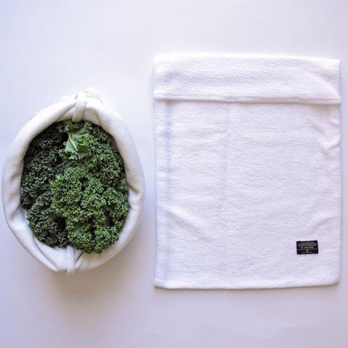 bolsas para  vegetales y hortalizas reutilizables en algodon