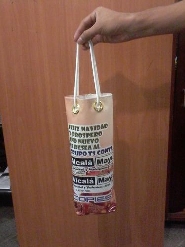 bolsas personalizadas para botellas navidad, regalos, mesa