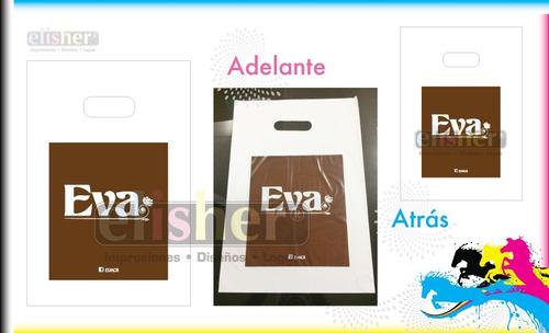 bolsas plásticas impresas ( personalizadas ) desde mil unid.