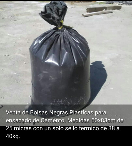 bolsas plasticas negras para material de mineria y cemento