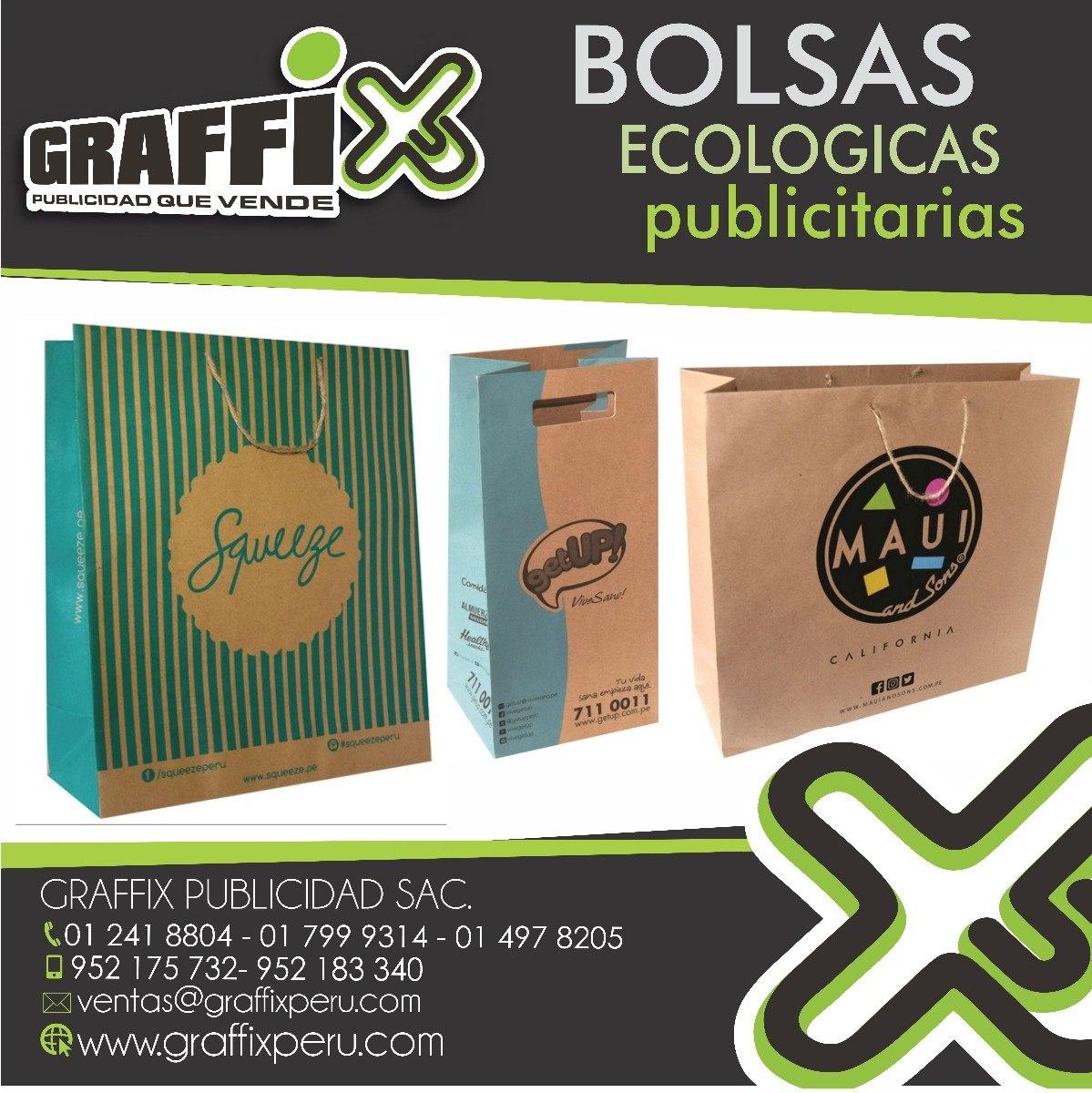 2272e3481 Bolsas Publicitarias De Papel Ecologico,liner,kraft - S/ 1.000,00 en ...