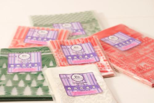 bolsas regalo de plástico transparente g mariposas fucsia